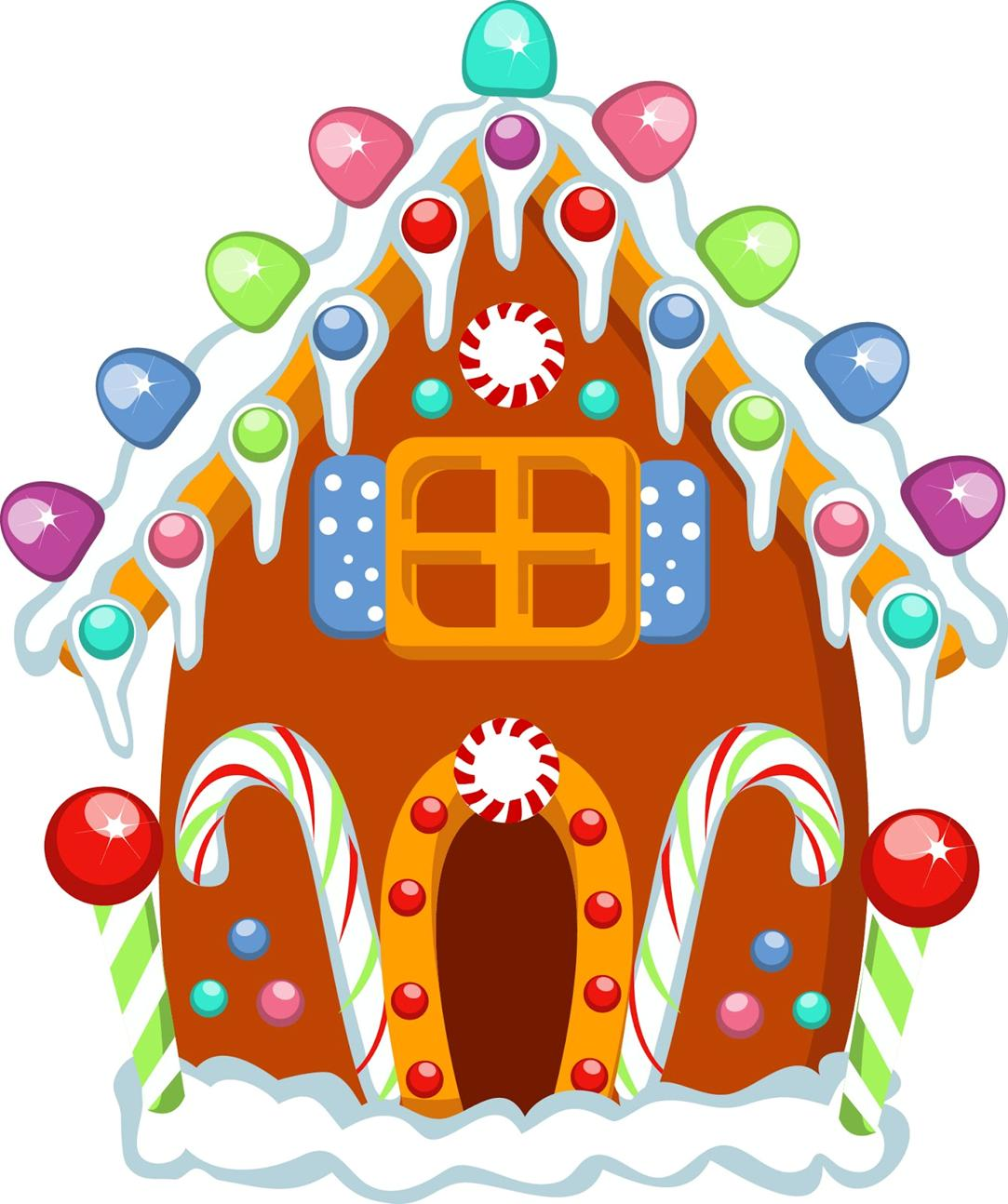 Gingerbread house decorations clip art